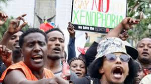 Ethiopians in Durban, South Africa, protesting a remark by Zulu King Goodwill Zwelithini in South Africa that Ethiopians and other African immigrants should go back home. This led to xenophobic attacks against other Africans. Such incidents do not deter Ethiopians who are still moving to South Africa illegally. (mereja.com)
